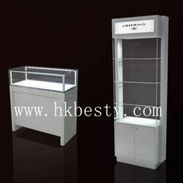China Simple And Fashion Jewelry And Watch Glass Display Cabinet Showcase With  Led Lights