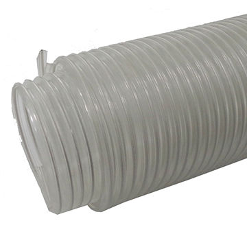 China Exhaust fan PVC vinyl vent hose 4 inches white PVC