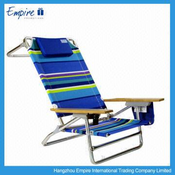 China 2017 High Quality Folding Reclining Beach Chair With Armrest