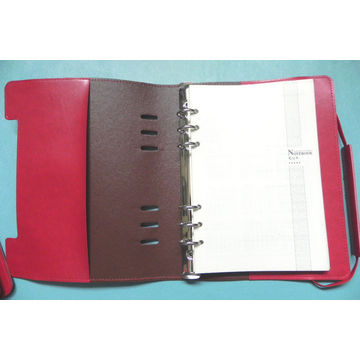 China PU Leather Agenda with Elastic Band Closure, Available in Various Colors/Sizes