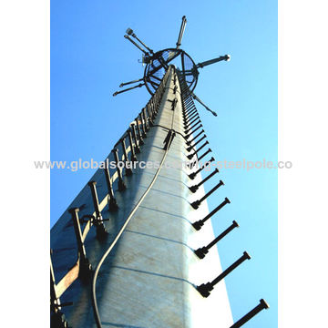 Telecommunication Monopole Tower, Outer Climbing Rung Two
