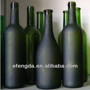 China High Quality 750ml Black Glass Wine Bottles Wholesale