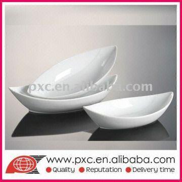 ... China Boat-shape White Ceramic Plates  sc 1 st  Global Sources & Boat-shape White Ceramic Plates | Global Sources