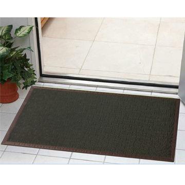 Gentil China Modern Contemporary Door Mat, 2 X 3ft Dark Brown Wheat ...
