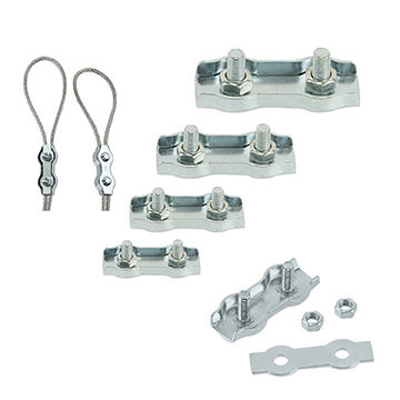 China Double Clamps Buckle Wire Rope Clip, Galvanized Steel Duplex 2 ...