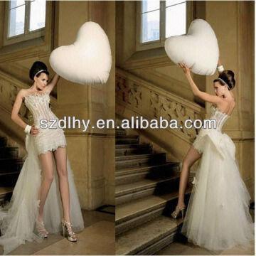 Jhf N24 Latest Design Short Wedding Dress With Detachable Train Global Sources