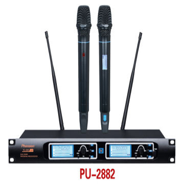 China Uhf Dual Channel Wireless Microphone System Frequency RangeVHF600 900MHz