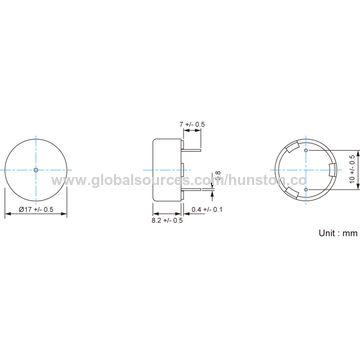 Hong Kong SAR SMD Piezo Transducer with Minimum Sound Output of 78dBA at 10cm
