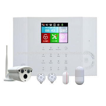 China New Color Screen Cloud-based Wireless TCP/IP+GPRS Home Alarm