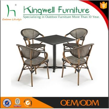 China Rattan Bamboo Chair Coffee Shop Restaurant Tables Chairs Used  Starbucks Furniture
