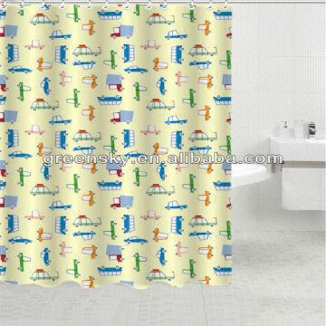 China Cow Print Shower Curtain 100polyester Water Repellent Mildew Resistant Customized Design