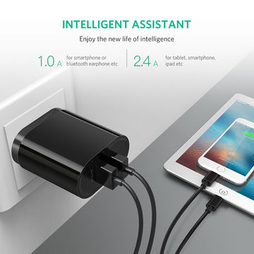 fa36449ec91ac5 ... China UGREEN USB Wall Charger Dual Ports 17W 3.4A USB Travel Wall  Charger with Smart ...