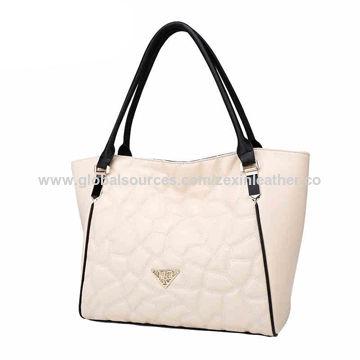 3c8ff6a2f1 China Lady handbag high quality PU leather handbags lady from China ...