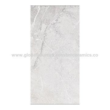 China Light Grey Marble Full Glazed Floor Tiles From Foshan