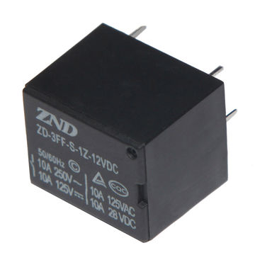 China 3FF (T73 )10A 12V 5Pin Silver Contact Power Relay