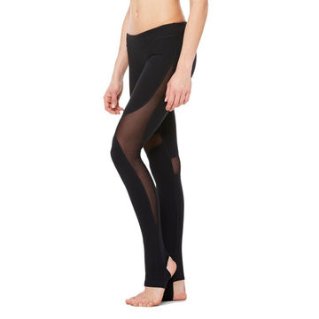 China Women's yoga legging mesh splicing