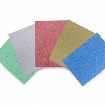 Color Coating Brushed Aluminum Sheets, Long Hairline/Short Line ...