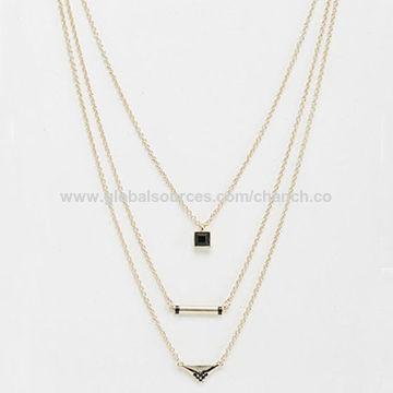 China hot selling pendant necklace with metal charms and three pendant necklace china pendant necklace aloadofball Image collections