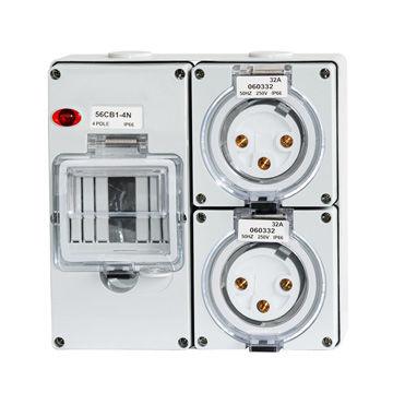 China Australian Industrial Waterproof Power Socket Outlet Ip66 Saa