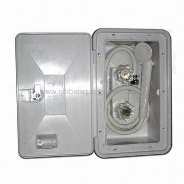 Bathroom Kit rv/marine exterior shower box kit with shower faucet, bathroom