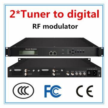 China 2TunerDVB S S2 TO Digital RF Modulator