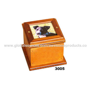 India Wooden Box Urn With Photo Frame From Moradabad Wholesaler
