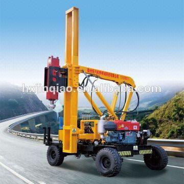Highway Guardrail Post Hammer Diesel Hydraulic Road Fence Post Pile