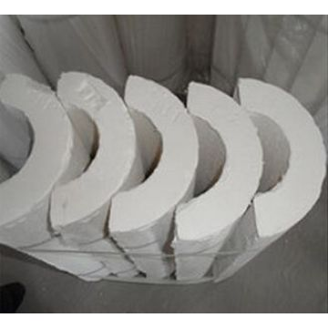Expanded perlite thermal insulation pipe cover forming and making
