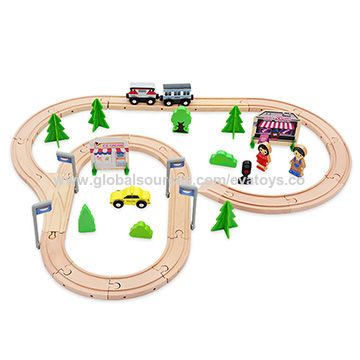 China 59pcs railway wooden toy electric train set for kids W04C078 ...