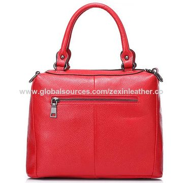 China Italy Designer Brands Logo Manufacturers Lady Pu Leather Handbag Zx10316