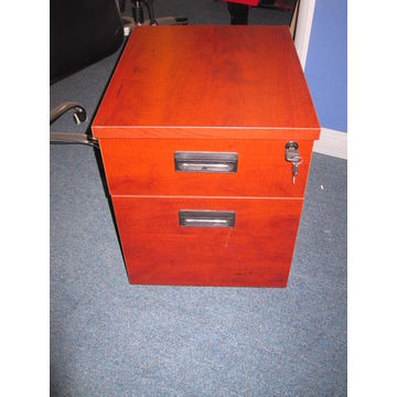 ... China Apple Wood Office Writing Table With Cabinet ...