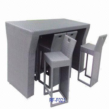 New PE rattan bar set,rattan bar table,rattan bar chair,wicker bar ...