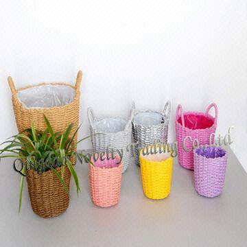 Global Sources & Flower Pot Cover/flower/straw Flowerpot/straw Basket/woven ...