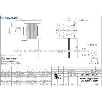Nema 17 Two-phase Stepper Motor Nema Stepper Motor Wiring Diagram on