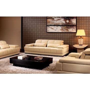 2015 modern leather wooden sofa set designs HD92 in foshan ...