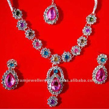 Newest Artificial Costume Diamond Jewelry Necklace Set India Newest Artificial Costume Diamond Jewelry Necklace Set  sc 1 st  Global Sources & Newest Artificial Costume Diamond Jewelry Necklace Set Bangles ...