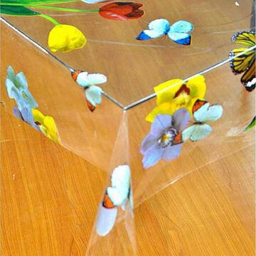 China Clear Vinyl Tablecloth, Made Of PVC Material, OEM Or ODM Designs Are  Welcome