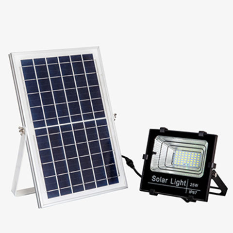 China High Quality Ip67 Waterproof 25w Solar Led Flood Light With Senor And Remote Control