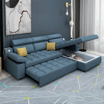 Global Sources Couches Lounge Sofa Bed, L Shaped Sleeper Sofa