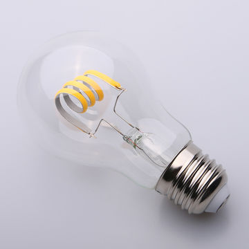 China LED Filament Bulb - A60 LED Bulb with 4 Watts Curved Filament