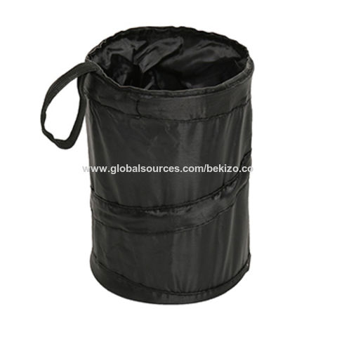 China Universal Car Trash Can Portable Collapsible Pop Up Garbage Bag Holder Without Lid