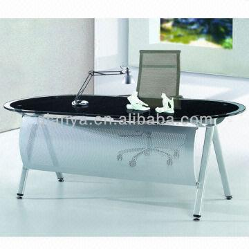 China 1.modern Simple Tempered Glass Office/boss Table/desk 2.paint