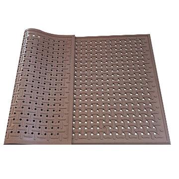 China Black anti-slip anti-fatigue rubber kitchen mat with bone ...