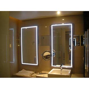 China LED Vanity / Bathroom Mirror, 304# Stainless Steel Frame on ...