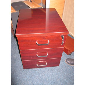 ... China Apple Wood Office Writing Table With Cabinet