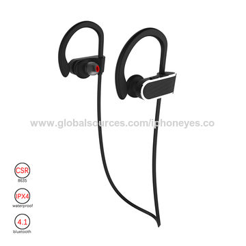 China Black in-ear stereo Bluetooth headset, Bluetooth earphone for sport