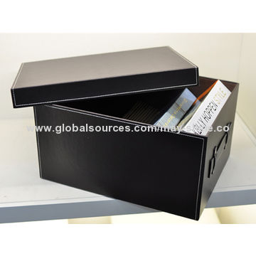 ... China Faux Leather storage box with embrioder ...  sc 1 st  Global Sources : faux storage box  - Aquiesqueretaro.Com