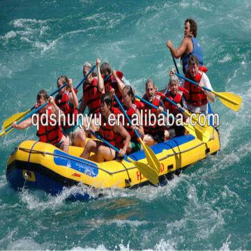 4 8m 10persons white water inflatable raft with self drain
