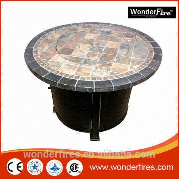 Outdoor Fireplace Fire Pit Heater Back Yard Propane Gas Patio