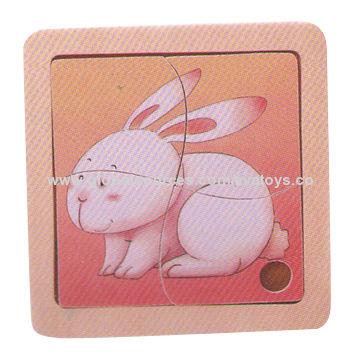 2015 Lovely Rabbit Design Kids 2d Wooden Puzzles